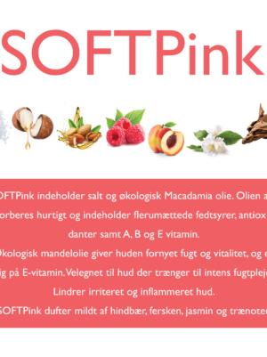SoftPink indeholder salt og økologisk macademiaolie og mandelolie
