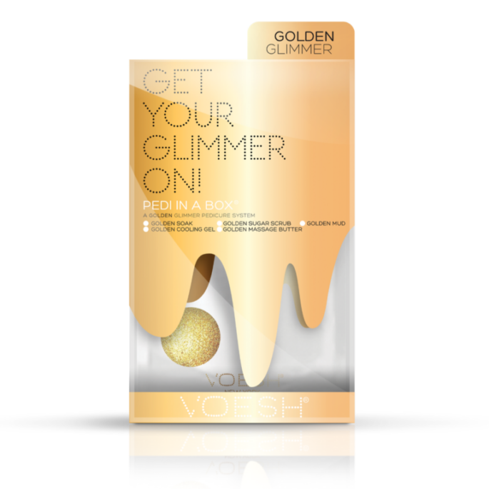 VOESH Pedi In a Box Get Your Glimmer On - Golden Glimmer
