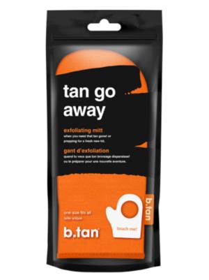b.tan Tan go away exfoliationg handske (orange)